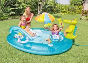 Intex Gator Play Centre Water Slide Sprayer Inflatable Kids Swimming Pool Toy Ebay