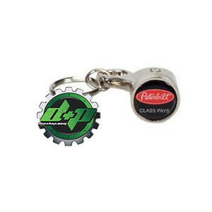 Piston keychain powerstroke duramax cummins truck key chain fob car stage Chrome