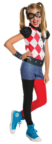 Girls Harley Quinn Superhero Comic Book Day Week Fancy Dress Costume Outfit 3-10