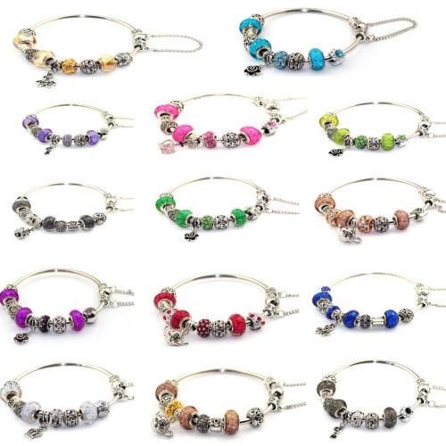 Armband mit Anhängern inklusive Murano Glas in vielen verschiedenen Farben