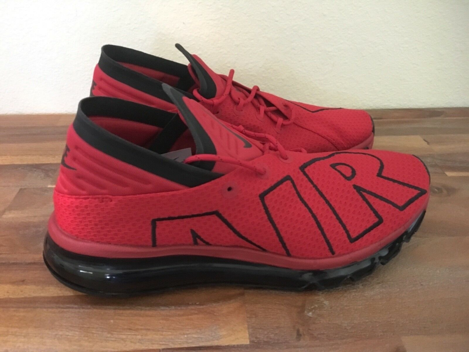 Nike AIR MAX FLAIR Men's Running shoes Red Black 942236-600 Men Sz 9.5