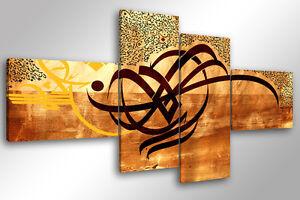 Dettagli su Quadro su Tela Quadri Moderni XXL cm 200x100 ARABIC 3  arredamento arredo arte