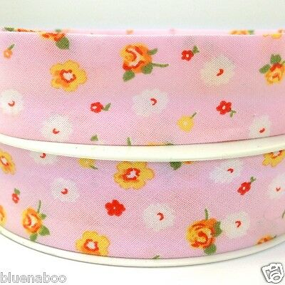 per metre beautiful floral bias binding 25mm wide 21 colours/patterns