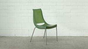 Office-Home-Outdoor-Chiacchiera-Stacker-Chair-Green-Plastic-Metal-38596