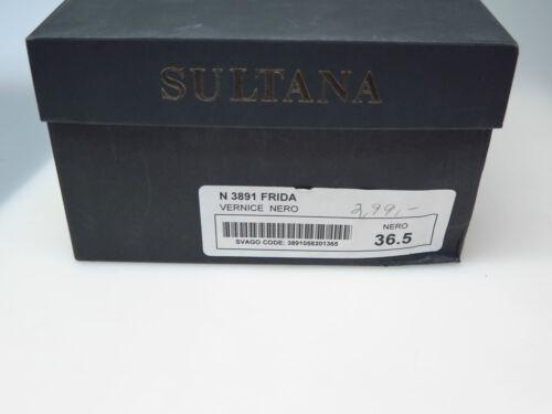 N3891 Frida Damenschuhe 5 Schuhe 36 Vernice Sultana Schwarz Designer Neu Gr Nero 17qFwwC