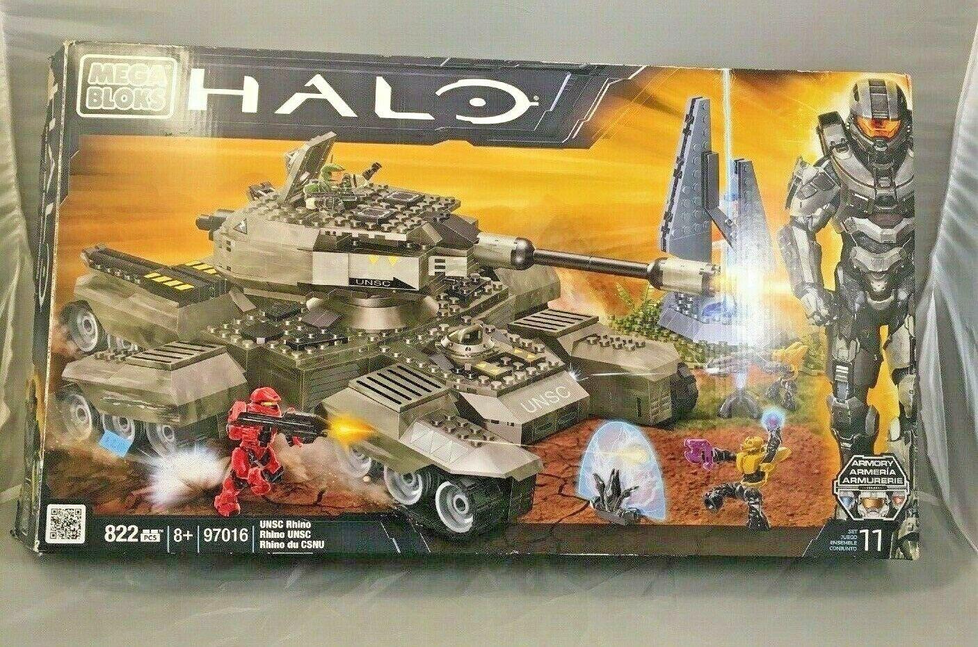 LEGO HALO Mega Bloks 97016 UNSC RHINO 82 PIECES 10 Förseglade påsar, Instruktioner