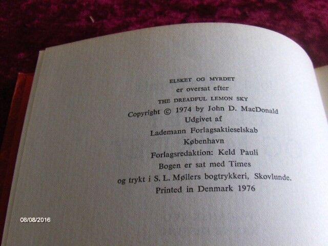 ELSKET OG MYRDET - INDBUNDET, JOHN D. MACDONAL, genre: