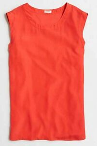 a16093b7c9cdd J Crew Factory NEW Drapey Sleeveless Top Blouse Coral Sizes XL ~ NWT ...