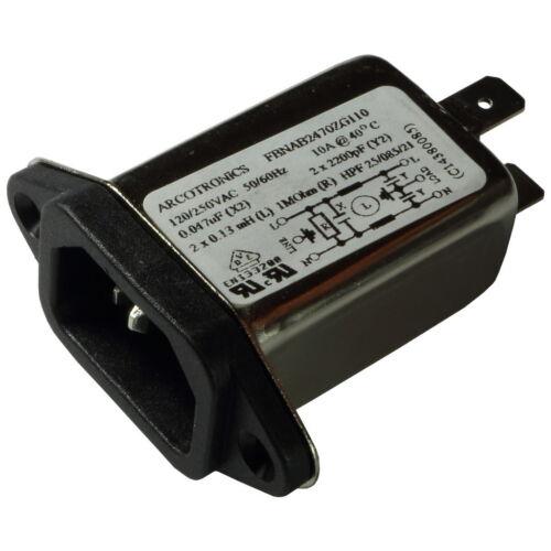 KEMET fbnab 2470zg110 FILTRO RETE 250v AC 10a Iec Inlet-FILTRO 855834