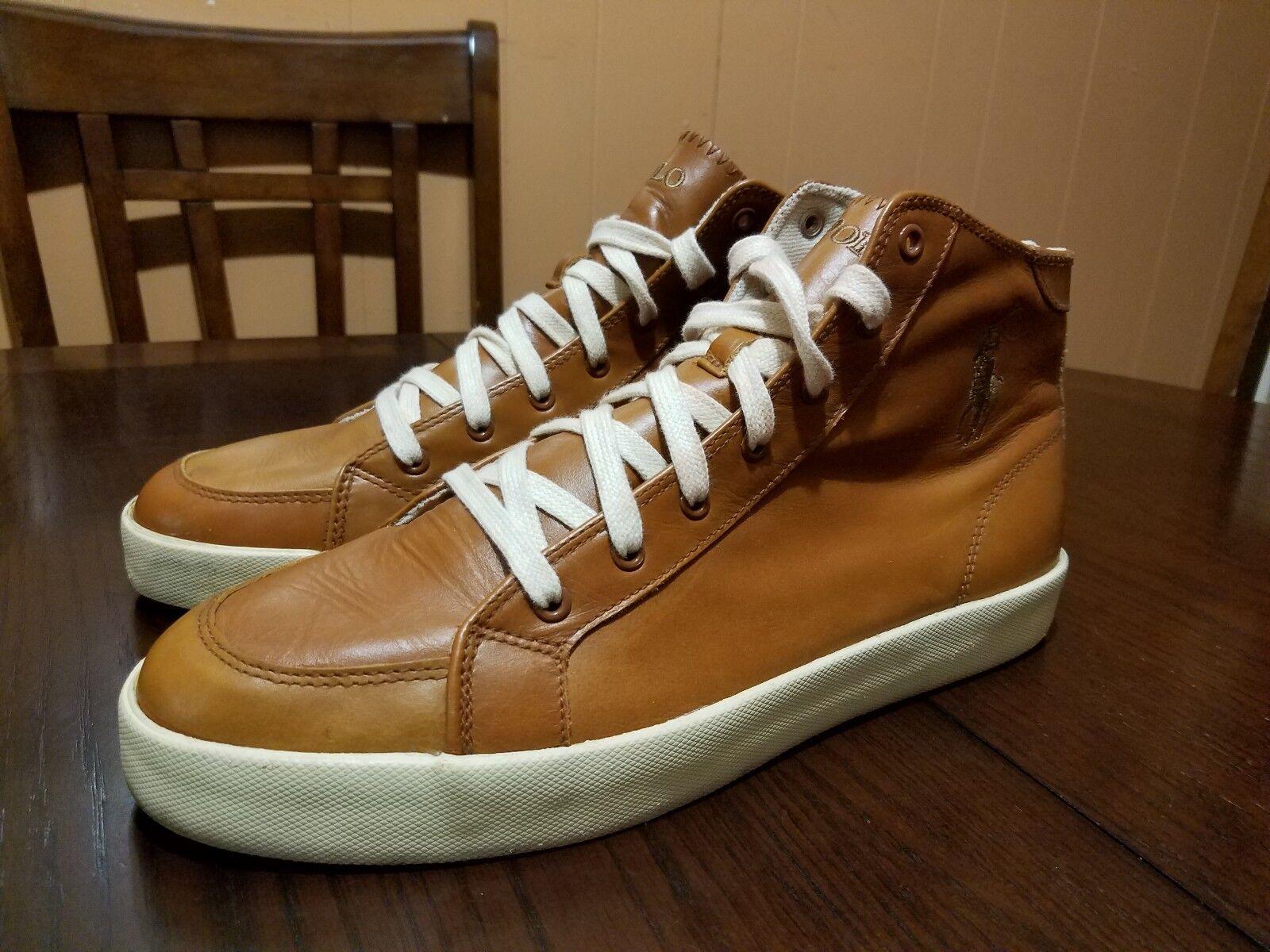 pretty nice 6ea18 13011 Polo Ralph Lauren Marrone Beige Leather Fashion Ankle Ankle ...