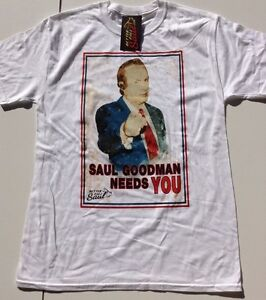 Men's Ex Store Plastic Head Breaking Bad White Saul Goodman Needs You T Shirts