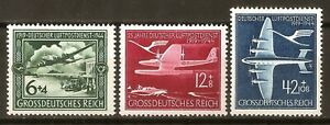 DR-Nazi-3rd-Reich-Rare-WWII-Stamp-Luftwaffe-Swastika-Airmail-Aircraft-Luftpost