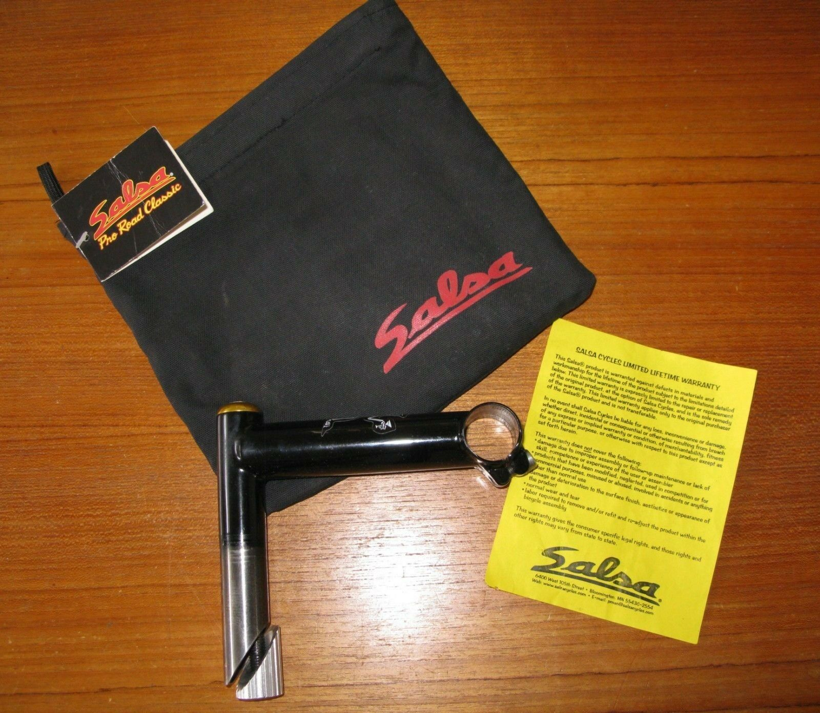 Salsa Bicycle Handlebar Stem 1  Quill 120mm Length 90 degree Rise 26.0 Clamp