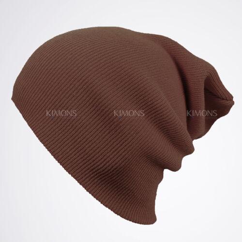 Cuff Beanie Knit Hat Winter Warm Cap Slouchy Skull Ski Hat Men Women Plain 2