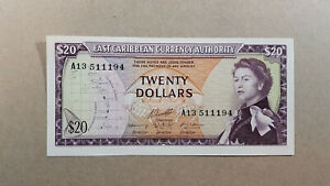 East-Caribbean-20-dollars-1965-UNC