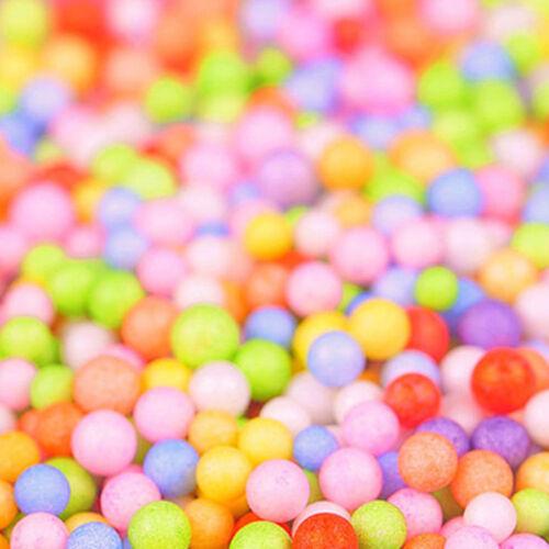 Assorted Colors Polystyrene Styrofoam Filler Foam Mini Beads Balls Crafts DIY
