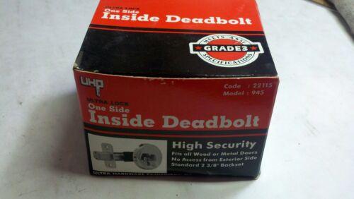 Ultra One Side Inside Deadbolt High Security 945 Dull Chrome