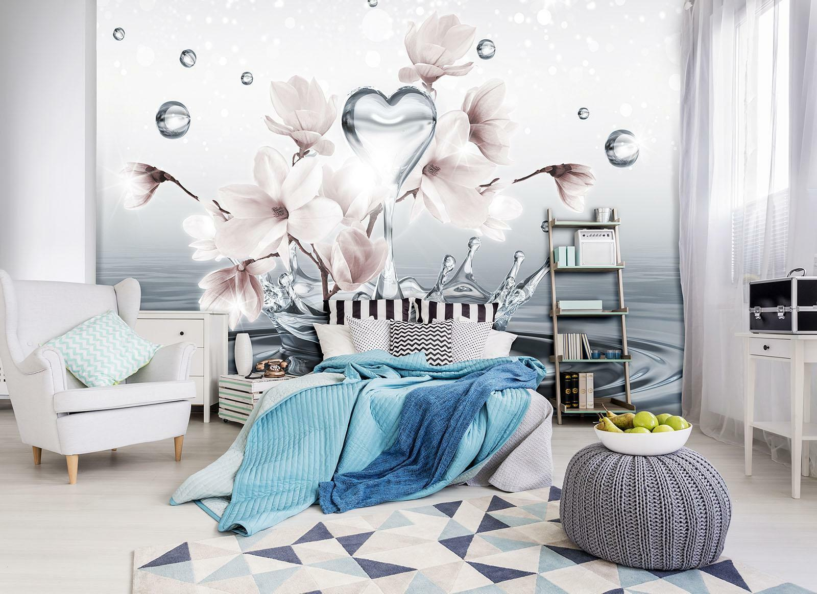 Fototapete Tapete Wandbild Vlies F410163_VEE Photo Wallpaper Mural Magnolie