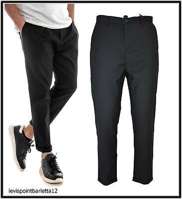 Pantalone A Cavallo Basso Lungo Da Uomo Estivo Nero Alla Turca Elegante 46 48 50 Design Professionale