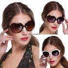 New Vintage Designer Oversized Sunglasses Womens Retro Shades Glasses Eyewear