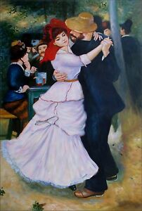 Renoir-Dance-at-Bougival-Repro-Quality-Hand-Painted-Oil-Painting-24x36in