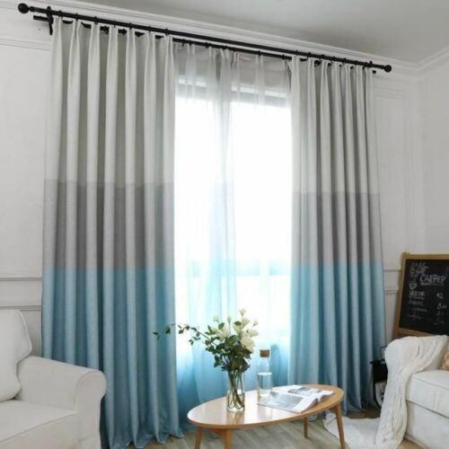 1 Pc Fashion Elegant Environmental Splicing Blackout Living Room Window Curtains