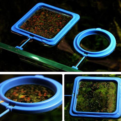 2 Shape Feeding Ring Aquarium Fish Tank Station Floating Food Tary Feeder Blue