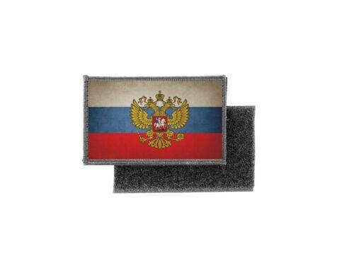 Patch ecusson imprime badge vintage drapeau russie avec aigle russe