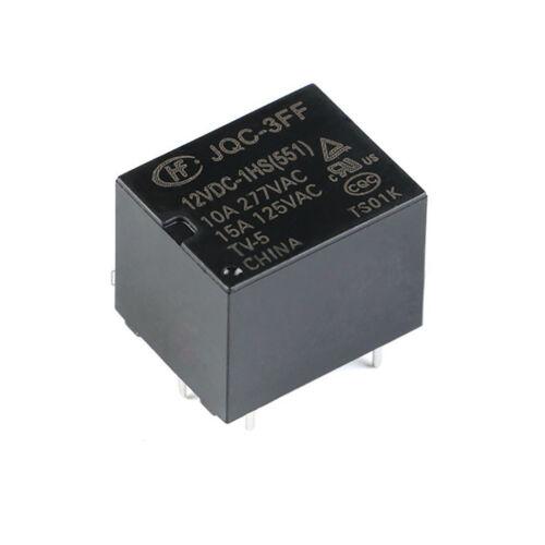 Hongfa Relays 10A 4-Pin HF3FF-JQC-3FF 005 012 024-1HS 5V 12V 24VDC Power Relays