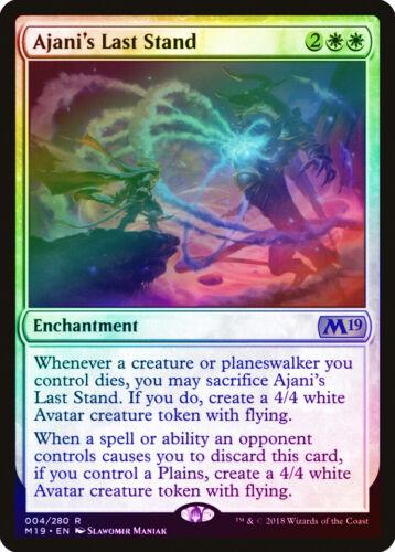 M19 NM-M White Rare MAGIC CARD ABUGames Ajani/'s Last Stand FOIL Core Set 2019