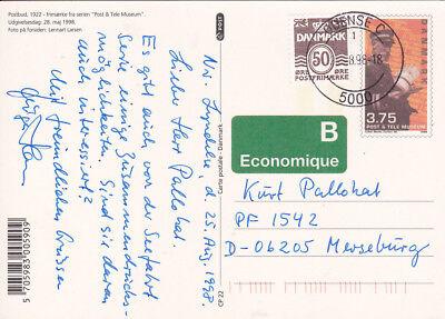 Europa Offen Gs_309 Postkarte P303 Kz Cp22 Aus Odense Von 1998 Dänemark Postbote