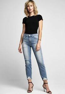 rise Zoeey Out Nwt Straight Hi 265 Color Dip Crop 29 Sz Destructed Jeans Hudson EwdzTxqE