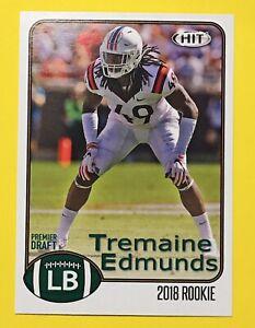 Tremaine Edmunds ROOKIE CARD 🔥 2018 HIT Premier Draft #81 Buffalo Bills LB Mint