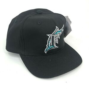 Vintage-Florida-Marlins-Outdoor-Cap-Co-Youth-Size-Snapback-Black-Silver-Logo-DS