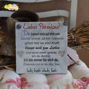 Shabby Style Liebes Patenkind Du Holzschild Geschenk