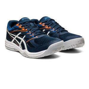 Asics Homme Gel-Upcourt 4 Intérieur Cour Chaussures Bleu Sports Squash Respirant