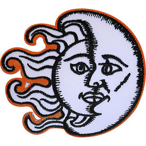 Embroidered-Half-Moon-Sun-Iron-On-Patch-Sew-On-Badge-Clothes-Embroidery-Applique