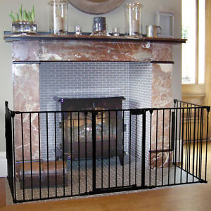 baby safety gate fireplace fence hearth door extra wide metal child rh ebay co uk Walls Fireplace Fireplace Baby Gate DIY