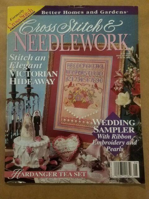 Cross Stitch /& Needlework Magazine August 1996-Stocking Hardanger /& Cross Stitc