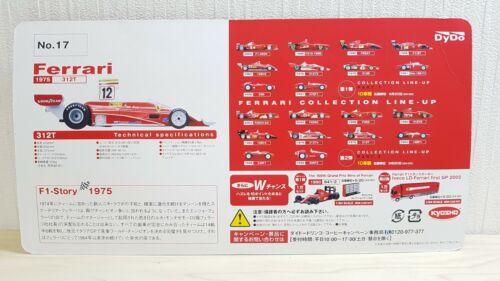 Details about  /1//64 Kyosho Dydo F1 1975 FERRARI 312T #12 LAUDA Diecast car model kit NEW