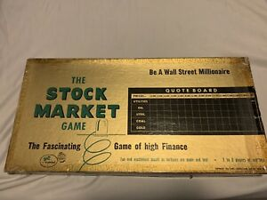 Vintage-1950-039-s-Gabriel-034-The-Stock-Market-034-Playing-Board-Game