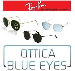 96d3d946fd08a Image is loading RAYBAN-Sunglasses-Round-Metal-RB-3447-Ray-Ban-