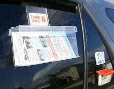 Outdoor Brochure Holder For Carpet Cleaning Van Acrylic Take One Display Box