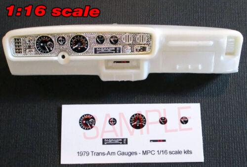 1//16 1979 PONTIAC FIREBIRD TRANS AM GAUGE FACES for 1//16 scale MPC KITS