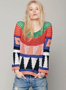 Art 168 Color Taglia Geometric Piccola Block People Free Sweater Modern Knit Multi q0EWaPw