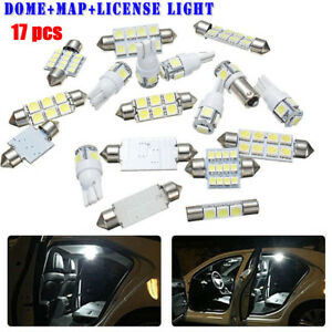 17pcs-Super-White-LED-Light-Interior-Package-Kit-Maps-lamp-50000-hours-Life-time