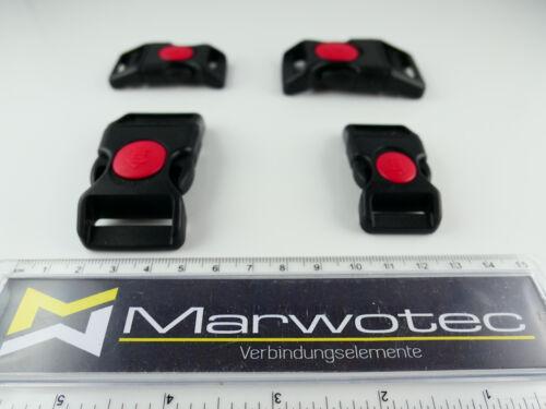 Steckschnalle curvadas con fusible plástico steckverschluss 20mm//25mm