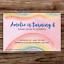 10 *PERSONALISED* watercolour RAINBOW party INVITATIONS birthday