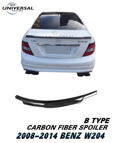 Carbon Fiber Trunk Spoiler For Mercede Benz 08-14 C Class W204 C300 Sedan Type B