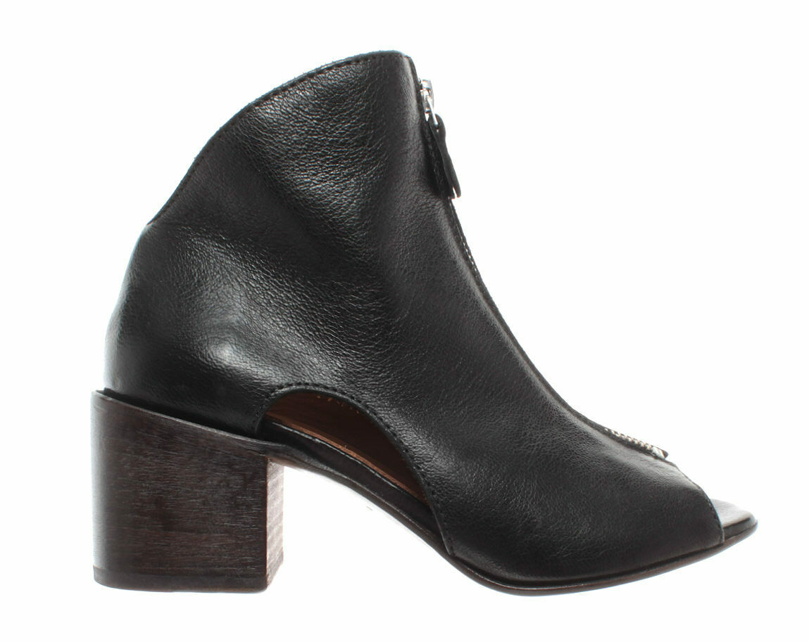 Damen Schuhe Stiefeletten Sandalen MOMA 47905-5A Cervo schwarz Leder Schwarz